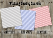 Wicking Cowboy Scarves, Striped Pattern