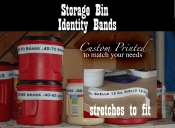 Storage Bin Bands Custom Printed