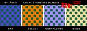 Wicking Cowboy Scarves, Lucky Shootist Shamrock