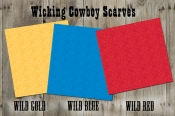 Wicking Cowboy Scarves, Wild Flower Pattern