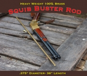 "Squib Rod 100% Brass 36""  .375"" or .3125 ""  or .25""diameter 36"" Length"