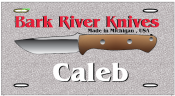 """Bravo/ Custom Alias"" Bark River Knives License Plate"