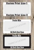 Custom Print Vehicle Tag Frame