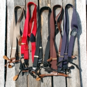 Cowboy Action Elastic Y Back Suspenders