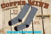 Grey Copper Mine Cooler Comfort Socks 2 pr/ Pack