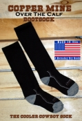 Black OTC Cooler Cowboy Socks 2 pr/ Pack